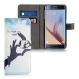 Wallet Ledertasche Samsung Galaxy S6 Edge Love