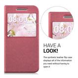 Flip Case HTC 10 Altrosa mit Fenster