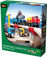 BRIO 33210 Rail und Road Loading Set