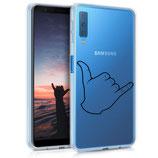 TPU Case Samsung Galaxy A7 2018 Handzeichen