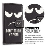 Wallet Case Samsung Galaxy A3 2016 Don't touch my Phone