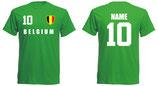 Belgien WM 2018 T-Shirt Druck/Name Grün