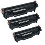 3x Toner Schwarz HP 12A Q2612A Laserjet
