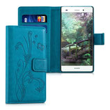 Wallet Hülle Huawei P8 Lite Ranken Schmetterling