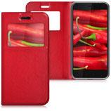 Flip Case Hülle HTC U11 Rot Fenster