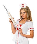 Riesige Spritze Doktor Arzt
