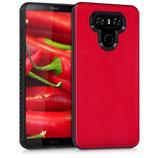 Hybrid Case Hülle LG G6 Hochglanz Rot