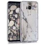 Crystal Case Samsung Galaxy S8 Marmor Weiss Schwarz