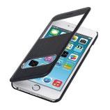 Flip Cover Apple Iphone 6 Plus mit Fenster Schwarz