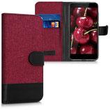 Wallet Case Xiaomi Redmi 4X Canvas Rot