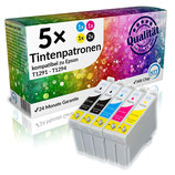5x Tintenpatronen Epson T1291 - T1294