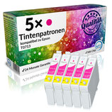 5x Tintenpatronen Epson T0713 Magenta