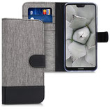 Wallet Case Huawei P20 Lite Canvas Grau