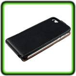 LEDER TASCHE F APPLE IPHONE 5 LEDER HÜLLE ETUI CASE COVER