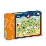 CARTA.MEDIA 7245 Puzzle Schweizer Karte 70 Teile