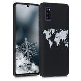TPU Case Hülle Samsung Galaxy A41 Weltkarte