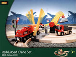 BRIO 33208 Rail und Road Crane Set