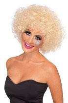 Perücke Lockenkopf blond Afro Perücke