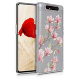 TPU Case Hülle Samsung Galaxy A80 Magnolien