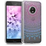 TPU Case Motorola Moto G5 Plus Sonne Blau Pink