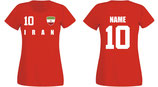 Iran WM 2018 T-Shirt Damen Rot