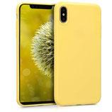 TPU Case Hülle Apple iPhone XS Max Gelb matt