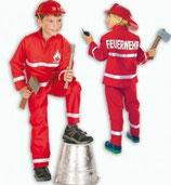 Feuerwehrmann Feuerwehr 2tlg Kinder Kostüm Grösse 104-152