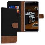 Wallet Case Samsung Galaxy J6+ Braun Schwarz