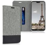 Klapphülle Cover Huawei P20 Lite Grau