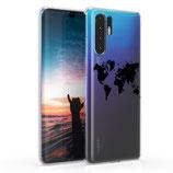 TPU Case Hülle Huawei P30 Pro Weltkarte