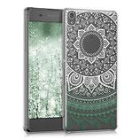 Crystal Case Sony Xperia XA Indische Sonne Grün