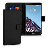 Wallet Ledertasche LG G4 Schwarz