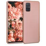TPU Case Samsung Galaxy A71 Metallic Rosegold