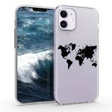Case Hülle Apple iPhone 12 Mini Weltkarte