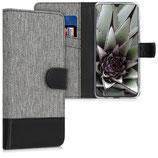 Wallet Case Huawei P30 Lite Canvas Grau