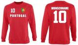 Portugal Pullover EM 2016 Name/Druck Rot