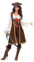 Piratinnenkostüm Kostüm Piratin Gr.36-46