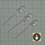 10 X Gelber Flacker LED,3mm Flackerlicht