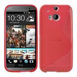 TPU Schutz Hülle HTC One M8 Rot Cover