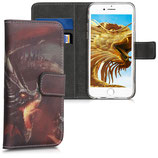 Wallet Case Hülle Apple iPhone 6 / 6S Drache