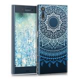 Crystal Hülle Case Sony Xperia XZ Sonne Blau