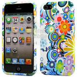 Apple iPhone 5 Schutzhülle Cover Case Blumen Bunt