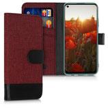 Wallet Case Huawei P40 Lite Canvas Rot