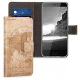 Wallet Case Hülle HTC U11 Life Weltkarte