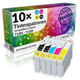 10x Tintenpatronen Epson T1281 - T1284