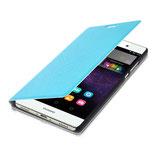Flip Cover Huawei P8 Max Hellblau