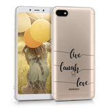 TPU Case Cover Hülle Xiaomi Redmi 6A Live Laugh