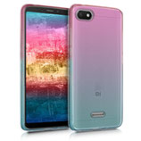 TPU Case Cover Hülle Xiaomi Redmi 6A Pink Blau