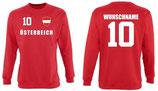 Österreich Pullover EM 2016 Name/Druck Rot