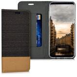 Flip Hülle Case Samsung Galaxy S8 Anthrazit Braun